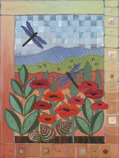 Blue Ridge Window / Summer Poppies